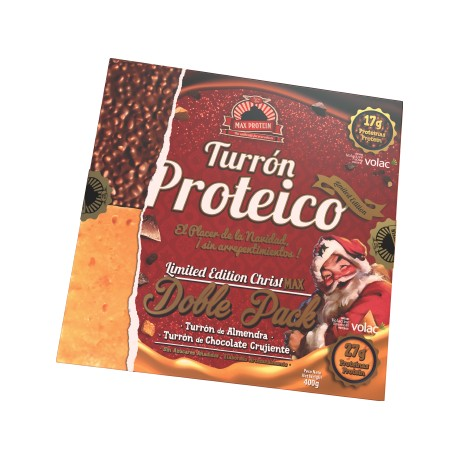 Turrón Proteico Christmax Doble Pack
