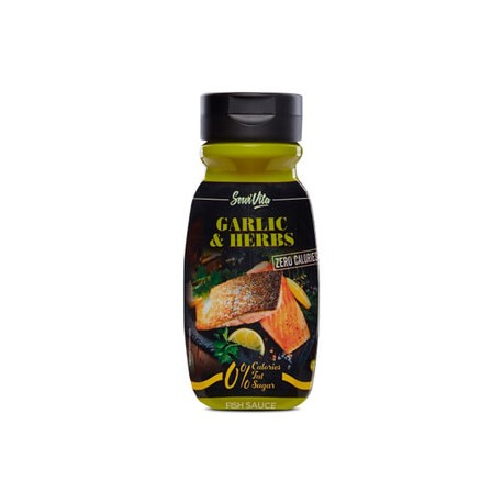 Servivita Salsa Garlic Herb Zero Calorías 320 ml